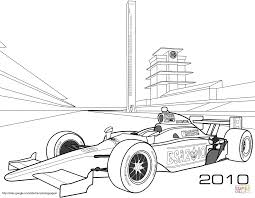 Small Picture Indy Race Car coloring page Free Printable Coloring Pages