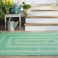seaglass green ultra wool braided rugs