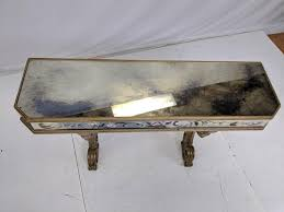 vintage mirrored decorator console wall