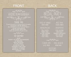 program template for wedding free printable wedding program templates vastuuonminun