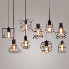 KINLAMS Retro Vintage Rope Pendant Light Lamp Loft Creative Industrial Lamp  With E27 Edison Bulb American