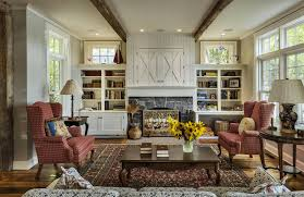 living rooms with built in shelving