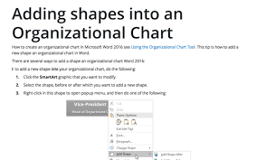 Organization Chart Add In For Microsoft Office Programs 2016 Using The Organizational Chart Tool Microsoft Word 2016