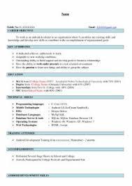 Brilliant Ideas Of Bca Fresher Resume Format Twentyeandi With