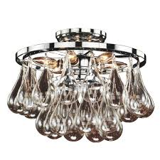 glow lighting concorde 6 light glass and chrome frame flush mount