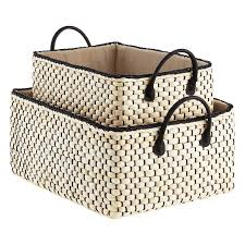 Soft storage bins Container Store Loft Bins Storagenewsletterinfo Loft Woven Storage Bins With Handles The Container Store