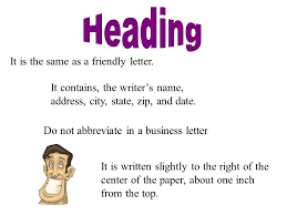 What Is The Heading Of A Business Letter Sinma