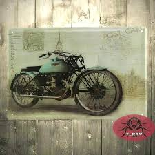 metal motorcycle wall art motorcycle wall mural garage oil station tin signs wall art decor bar metal iron painting c sticker window stickers and decals