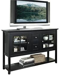 Black Console Table With Storage Walker Edison 52 In Wood Console