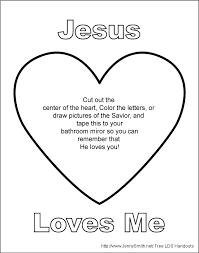 Jesus Loves Me Coloring Page Pdf Christ You Sheets Good Pages