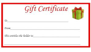 Gift Certificate Printable Free Free Christmas Printable Gift Certificates The Diary
