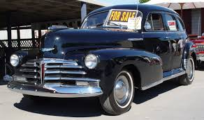 1948 Chevrolet Fleetmaster Sedan 4 Door - Black - Front Angle