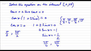 solve the trigonometric equation in the interval practice quiz 3 10