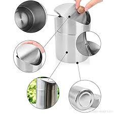 ying lan stainless steel wave cover countertop small trash can kitchen desktop mini wastebasket b01f8aooxu