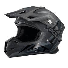Force Adult Moto Helmet With Removable Mouthpiece Black Matte