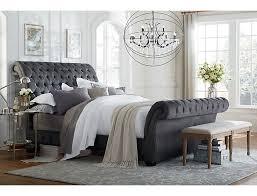 Bombay Gunmetal Queen Upholstered Bed