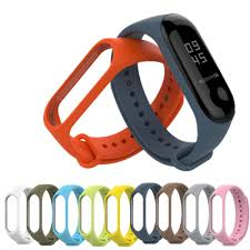 <b>Bracelet for Xiaomi Mi</b> Band 3 Sport Strap Watch Silicone Wrist Strap ...
