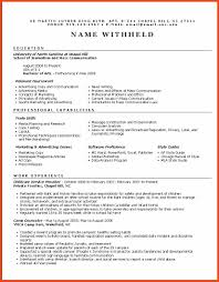Functional Resume Example Sop Format Example