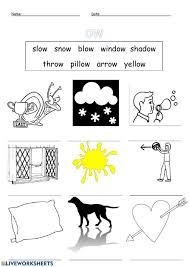 These worksheets help kids learn to use letters to make sounds and words. Phonics Ow Oa Sound Worksheet