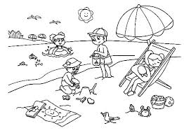 Summer Coloring Pages Free Printable Easy And Fun Summer Coloring