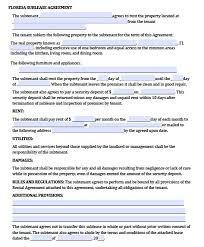 Apartment Sublease Template Sublease Agreement Florida Gtld World Congress