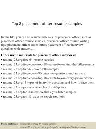 Placement Officer Sample Resume Top224placementofficerresumesamples22450522224322422424224lva224app622492thumbnail24jpgcb=22424323007224224 7