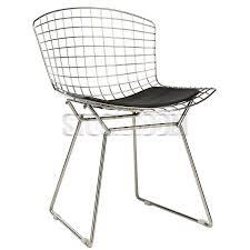 bertoia style wire chair with pad premium version