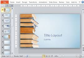 book publishing templates blue bookstack educational powerpoint template