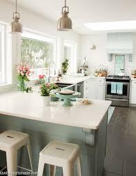 Cottage Style Kitchen Table Coastal Cottage Style Spring Kitchen Tour The Happy Housie