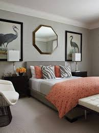 Orange Bedroom Decorating Grey And Orange Bedroom Designs Ideas Us House And Home Real