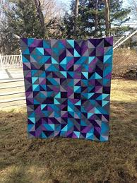 Best 25+ Purple quilts ideas on Pinterest   Baby quilt patterns ... & Fantastic color choices in this HST quilt top by Kali Zirkle. Adamdwight.com