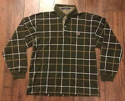 mens tommy hilfiger color block rugby shirt size xl vtg plaid