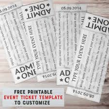 Free Templates For Tickets Free Printable Event Ticket Template To Customize
