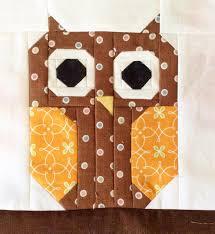Cute Owl Quilt Block | Owl quilts, Owl and Paper piecing & Cute Owl Quilt Block Adamdwight.com