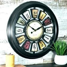 2 sided clock two wall hanging clocks antique double station outdoor train thermometer