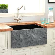 signature hardware single basin granite farmhouse sink for installations black n a free today 24