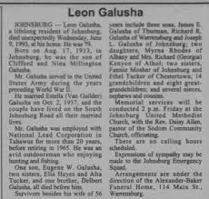 Obituary for Leon H Galusha (79) 1913-1993 - Newspapers.com