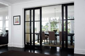 solar shades for sliding glass doors dining room transitional with area rug baseboards black