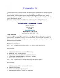 Photographer Cv Cover Letter Sample Photography Assistant Job Resume