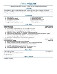 Agreeable Furniture Delivery Driver Job Description Best Hub Resume