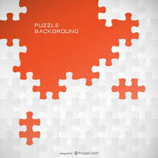 Jigsaw Background Template Vector Free Download