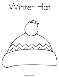 Small Picture Winter Hat Coloring Page Twisty Noodle