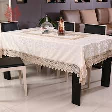 rectangular dining table cover cloth knitted vintage: beige coffee hot sale table cloth floral jacquard satin dining table cover with lace patchwork