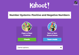 this will open your kahoot in a new browser tab starting at a screen where you choose between two game modes to begin the game