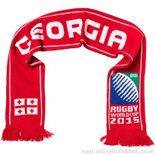 great georgia uni red blue green white red scarf rugby world cup flag sports accessories