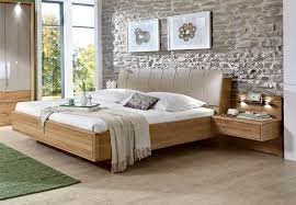 stylform selene  semi solid oak  faux leather modern bed