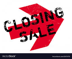 Closing Sale Rubber Stamp Royalty Free Vector Image