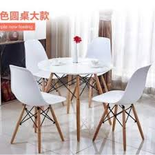 harga nordic scandinavian round dining table eames discussion in malaysia