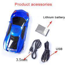 PC Telefon için Bluetooth Araba Şekil Hoparlör USB TF FM Radyo USB MP3 Müzik  Çalar Stereo Hoparlörler Bas Komik Çocuk Hediye Oyuncak Ses Kutusu ~ Outlet