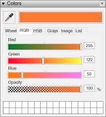 Colors Rgb Choosing Colors Sketchup Help
